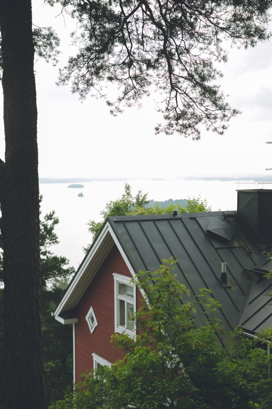 Tampere Pispala red wooden house