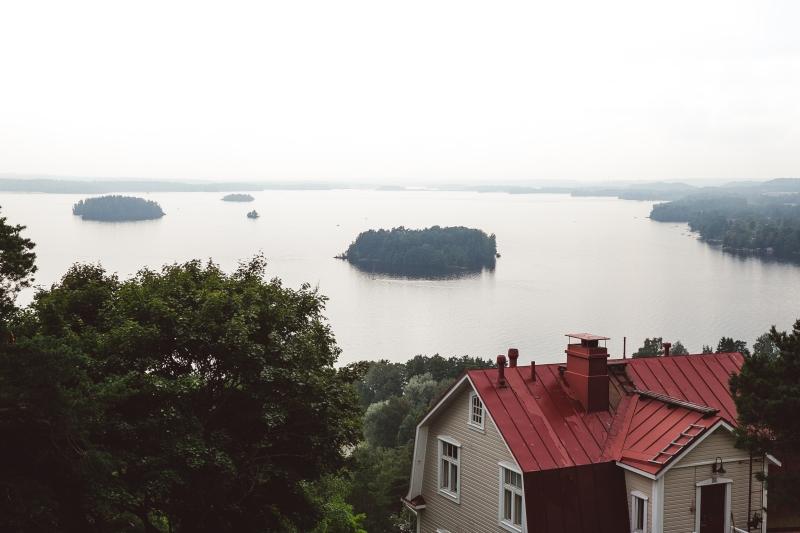 Tampere Pispala wooden houses lake view