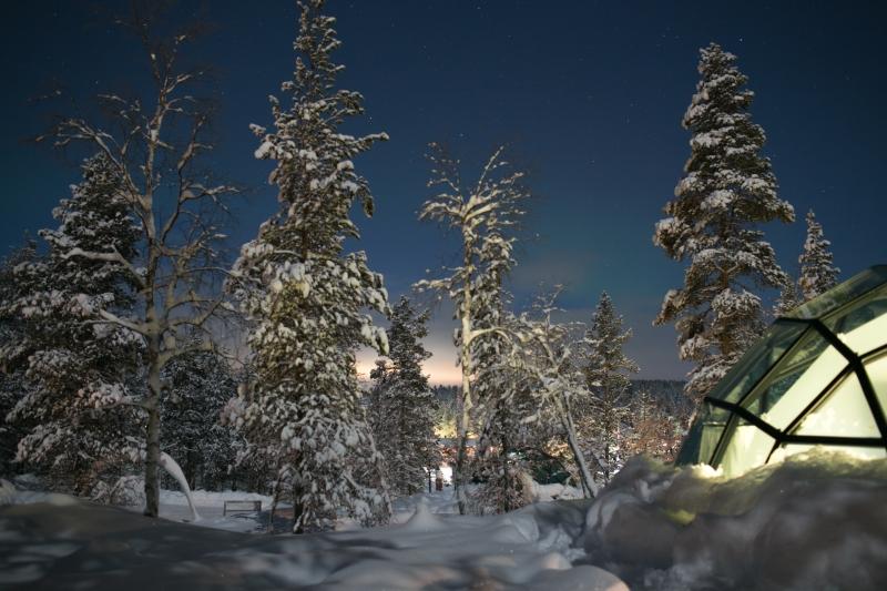 Kakslauttanen Arctic Resort Saariselkä Lapland Lappi Finland Glass Igloo East Village