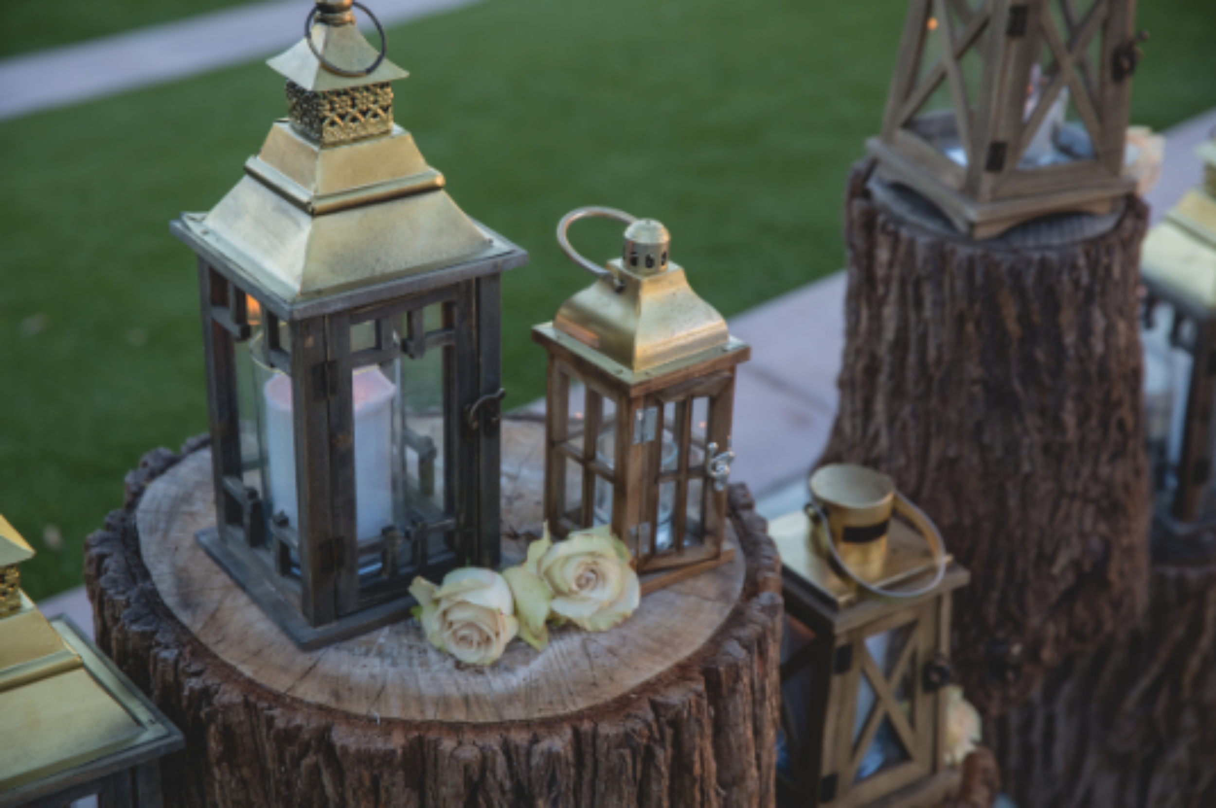 wedding ceremony az wood lanterns