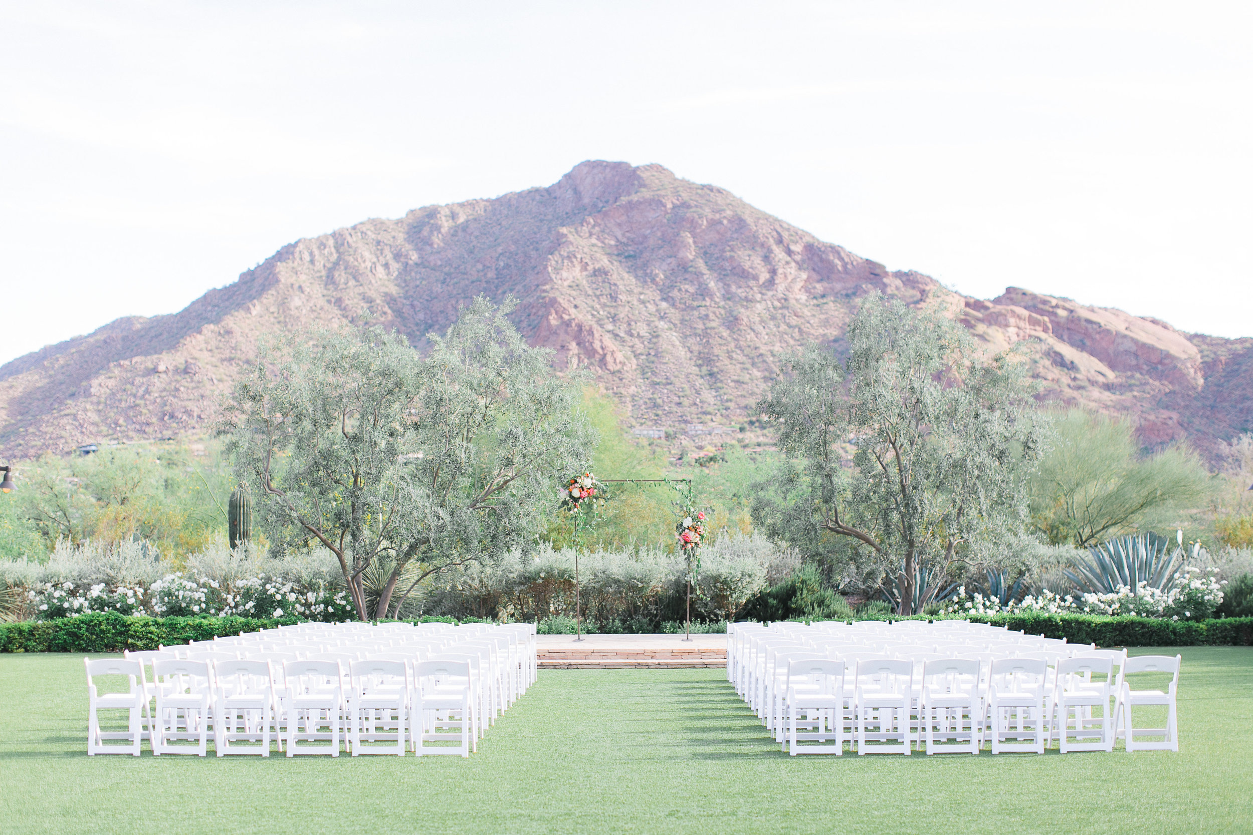arizona wedding scottsdale el chorro pink peach coral blush planner  ceremony