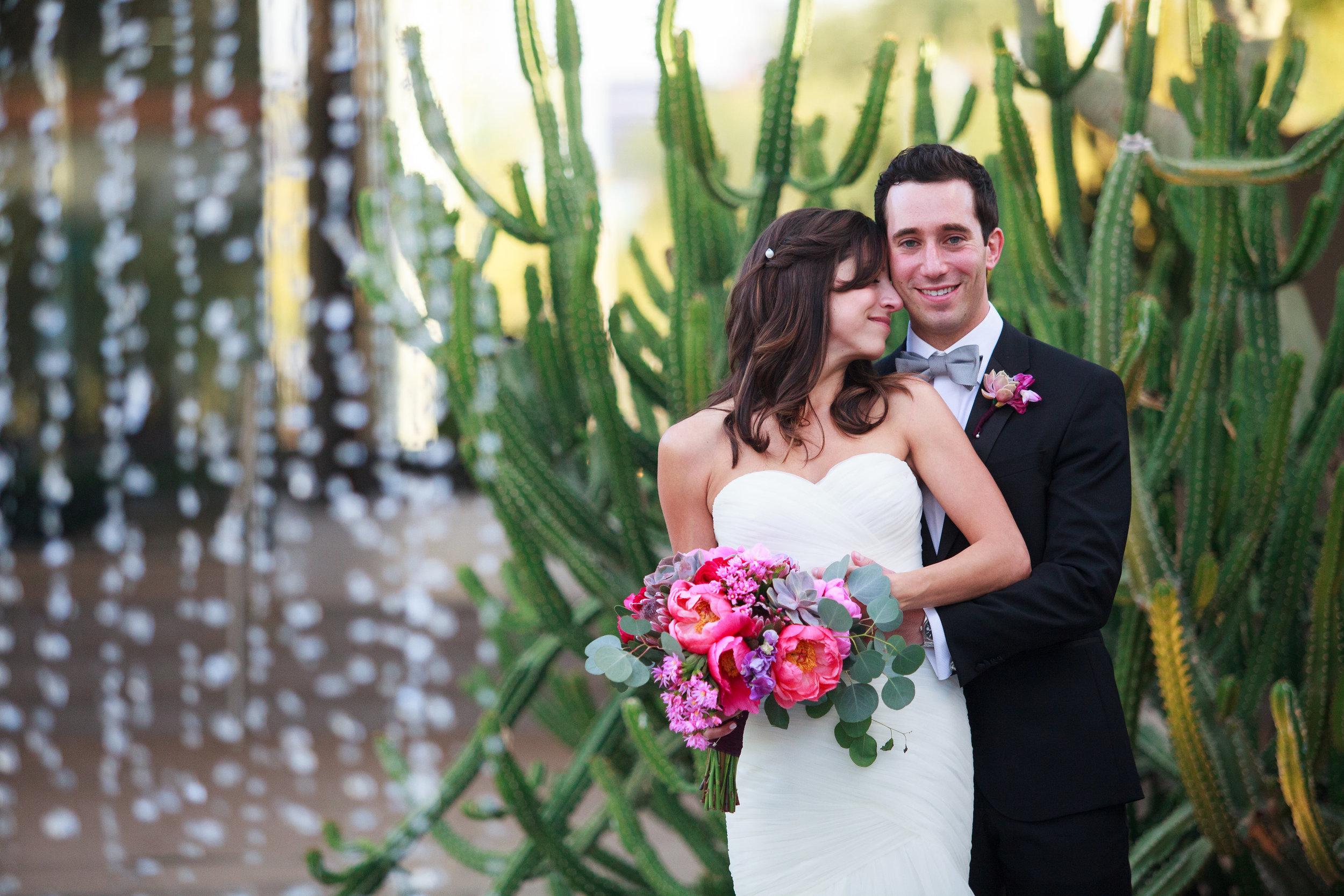 wedding, Arizona wedding, art museum wedding, wedding planner, wedding lighting, Phoenix-Scottsdale-Arizona-Wedding-Planner-Wedding-Venue-Destination-Wedding-Planner, bride, groom, peony, bouquet