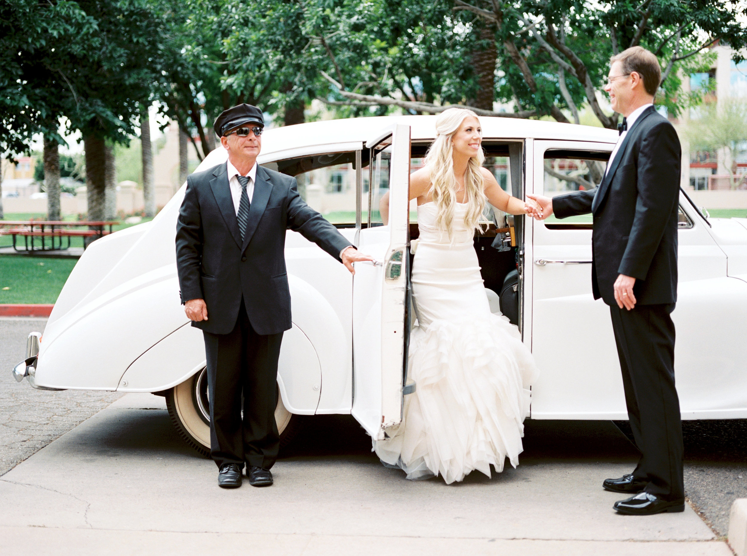 wedding transportation, Rolls Royce wedding transportation, bride transportation, father of the bride transportation
