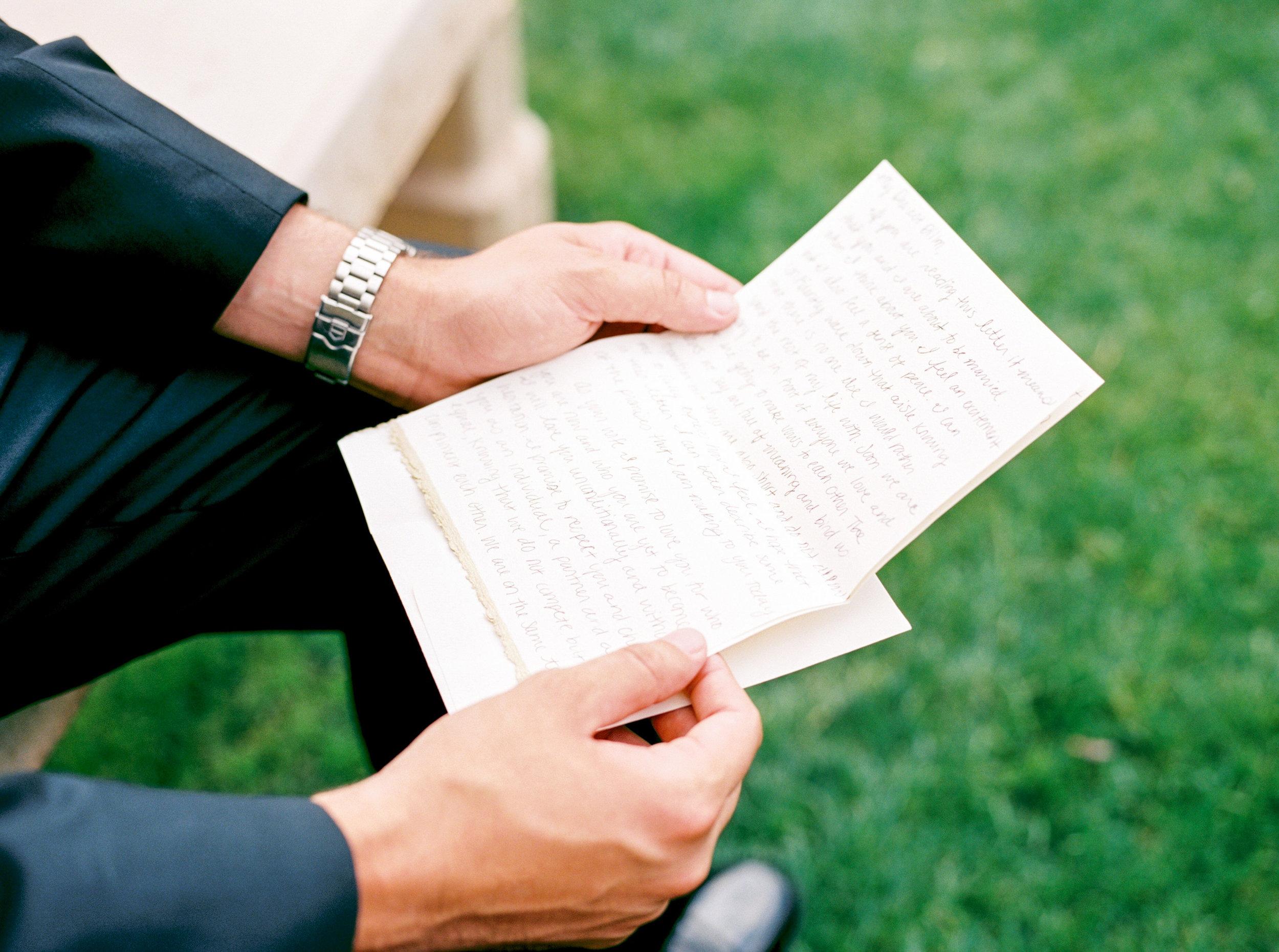 Groom details, groom gift, love letter from bride,
