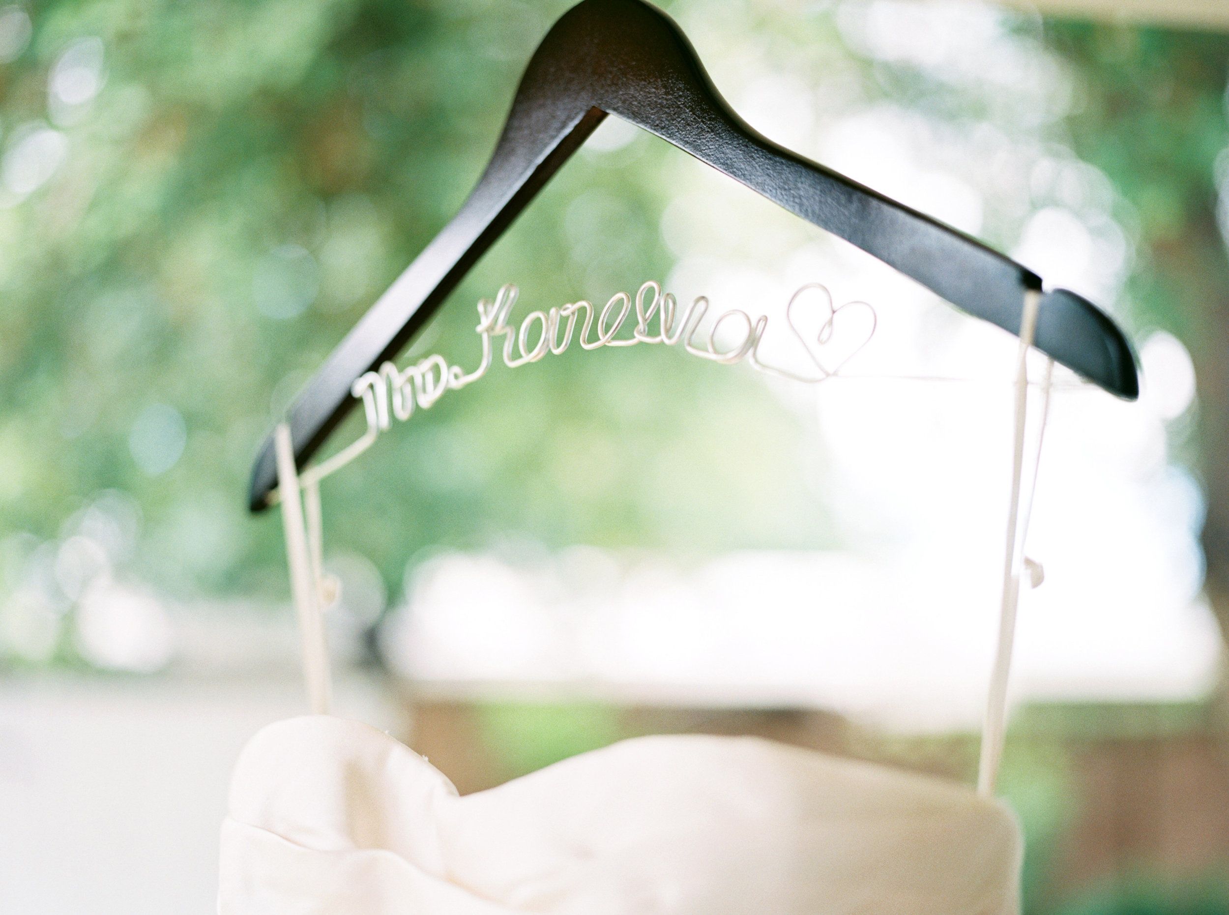 Wedding dress, ivory wedding dress, Vera Wang wedding dress, wedding dress hanger