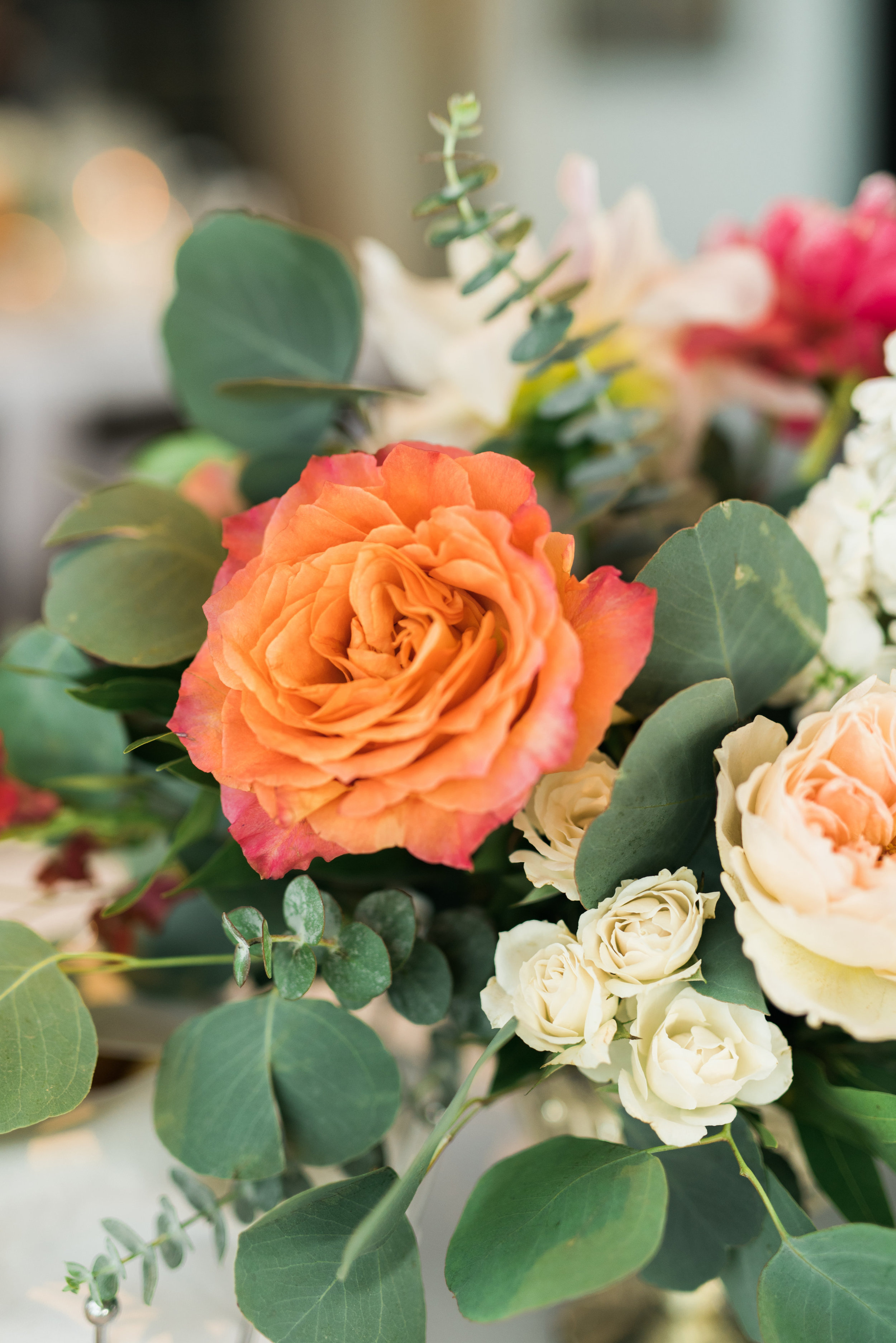 wedding flowers, orange wedding flowers, ivory wedding flowers, blush wedding flowers