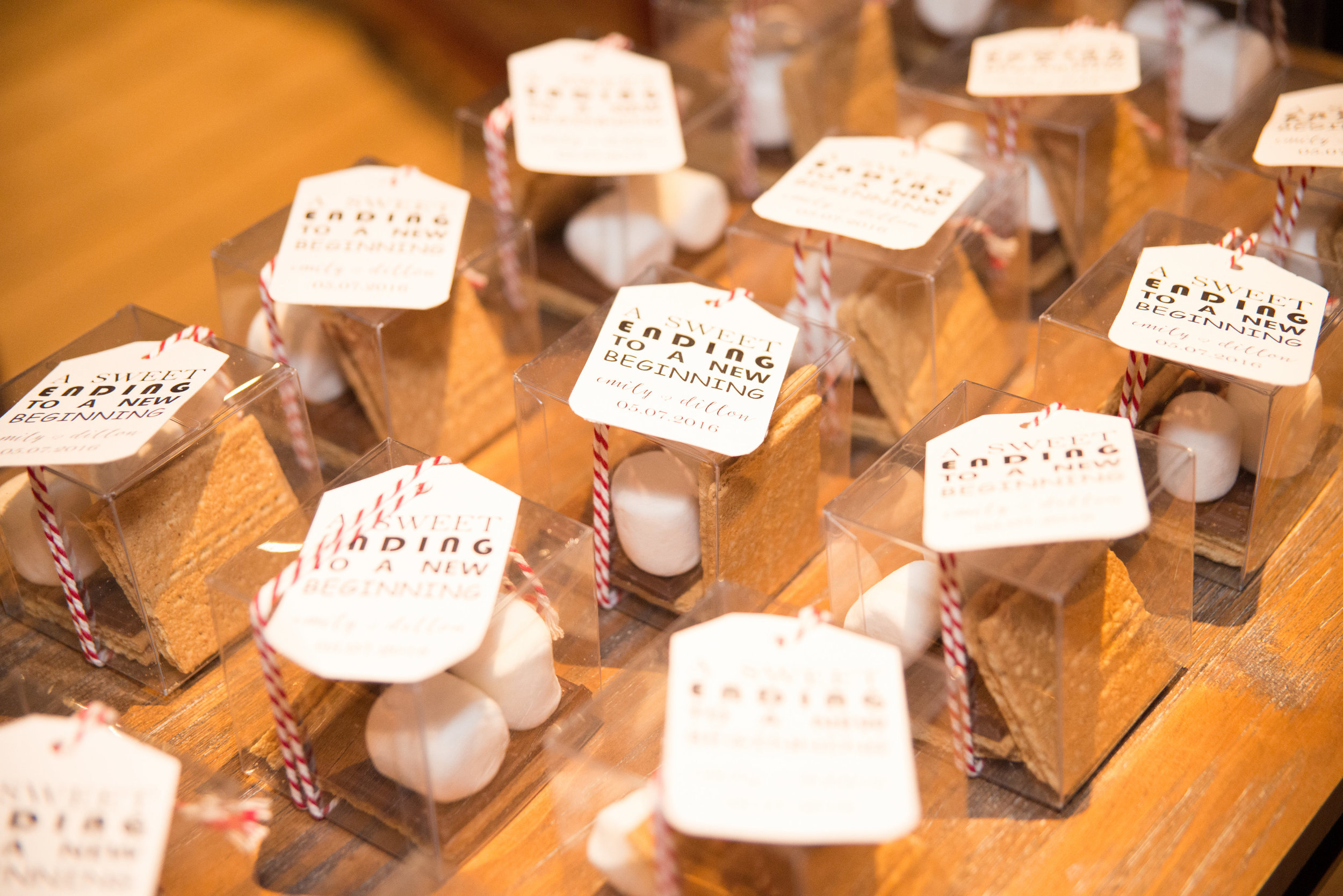 wedding favors, s'more wedding favors, sweet ending wedding favors