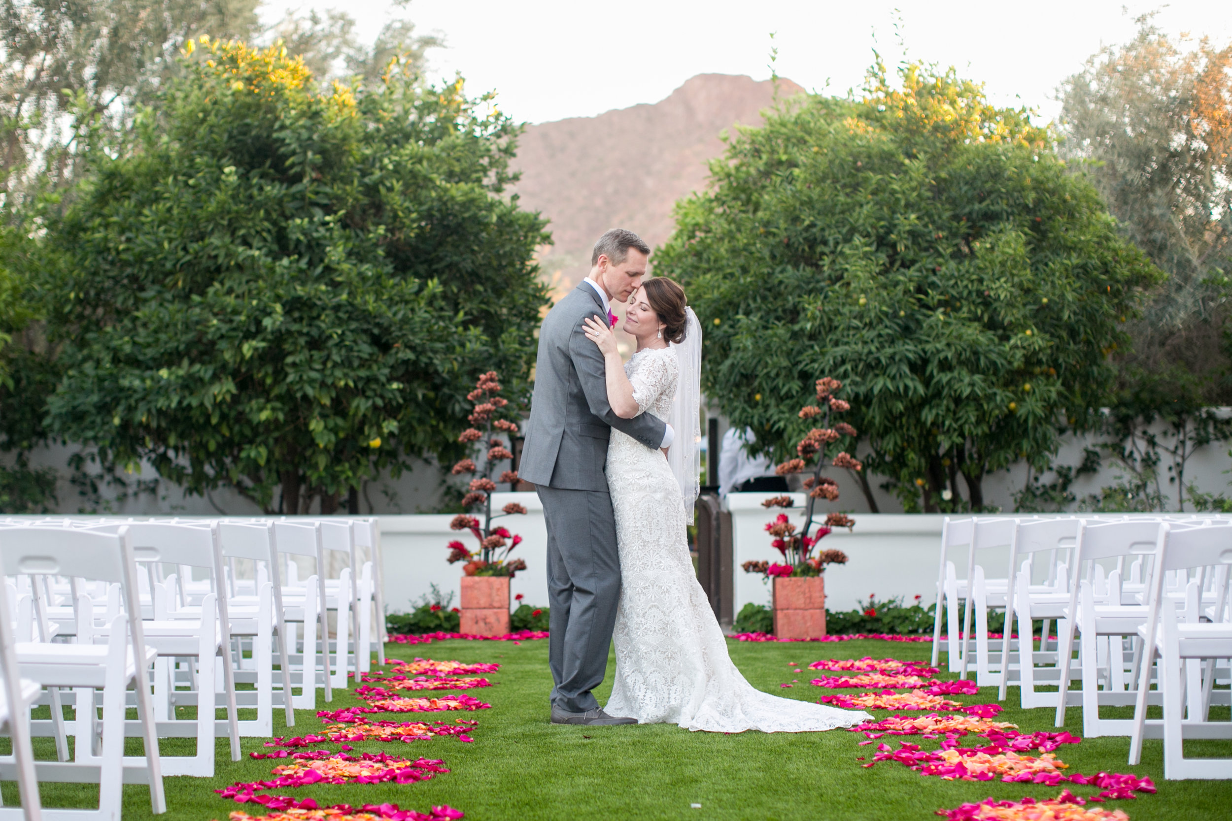 arizona desert wedding ceremony copper el chorro wedding planner