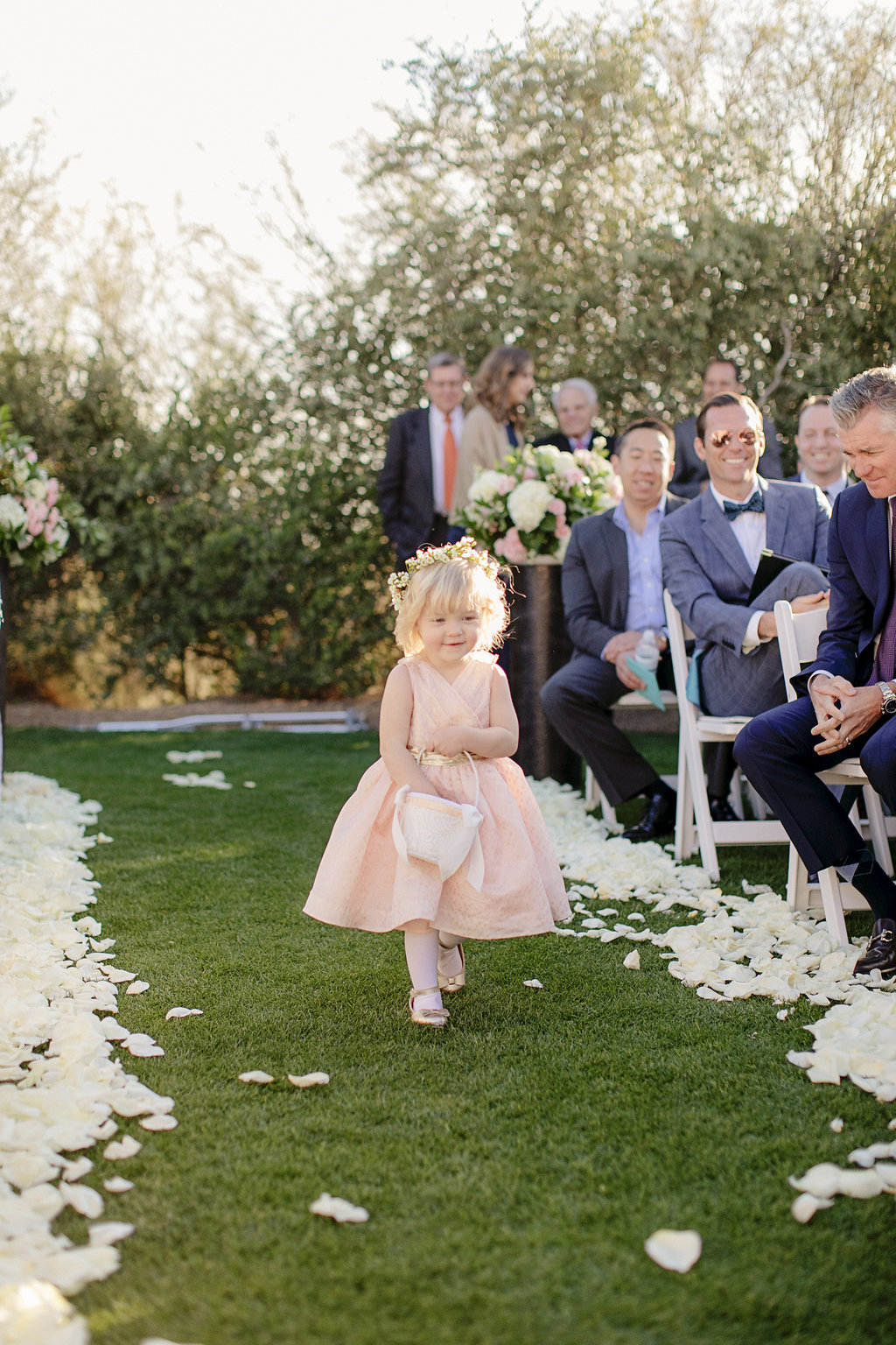 arizona wedding flowergirl