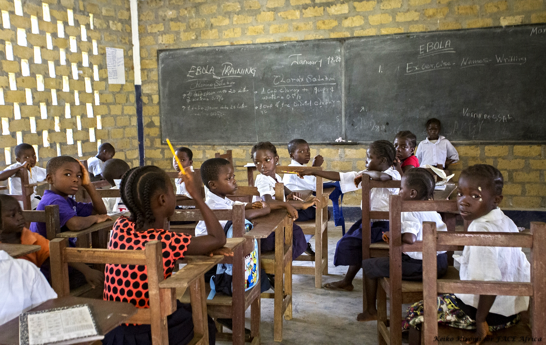 Classes have resumed at the Yarpah's Town Public School, Rivercess County, Liberia
