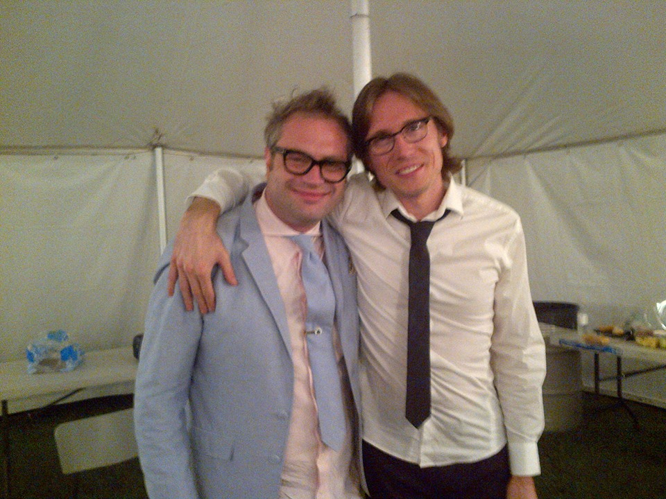 Steven Page and I after the show.