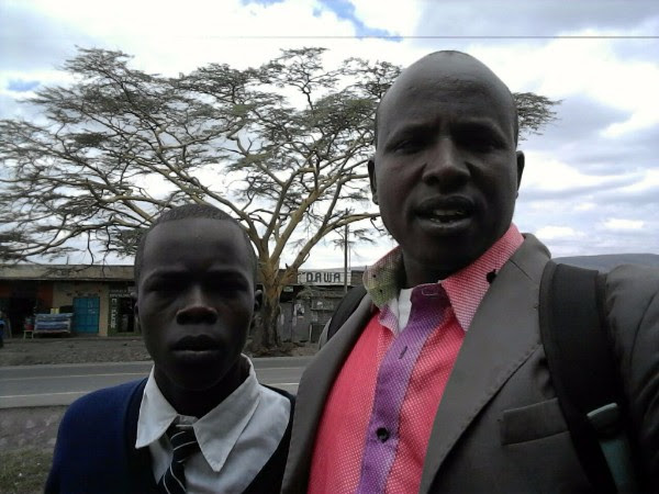Lesinko Sipitiek (left) and Daniel Sempui (right) -