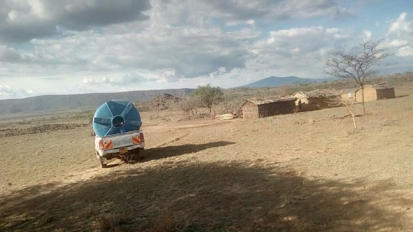 Transportation of the Water Tank to Kisharu -