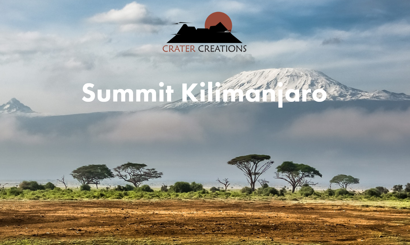 Summit Kilimanjaro - When: January 6 - 18, 2019Climb Fee: $2,250Fundraising: $1,400 (Tax Deductable)