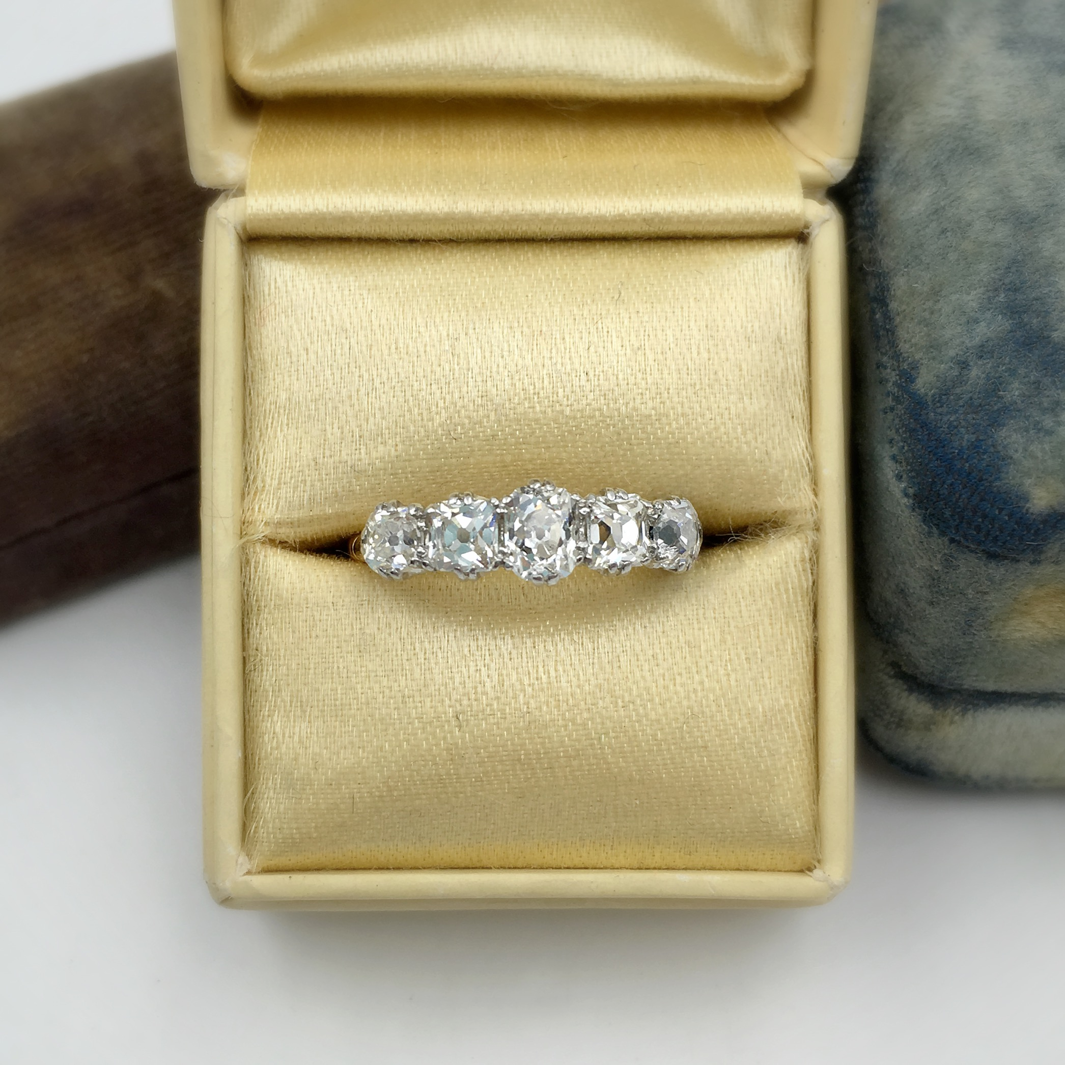 Edwardian Antique Diamond ring, Reverie Estate jewelry NYC