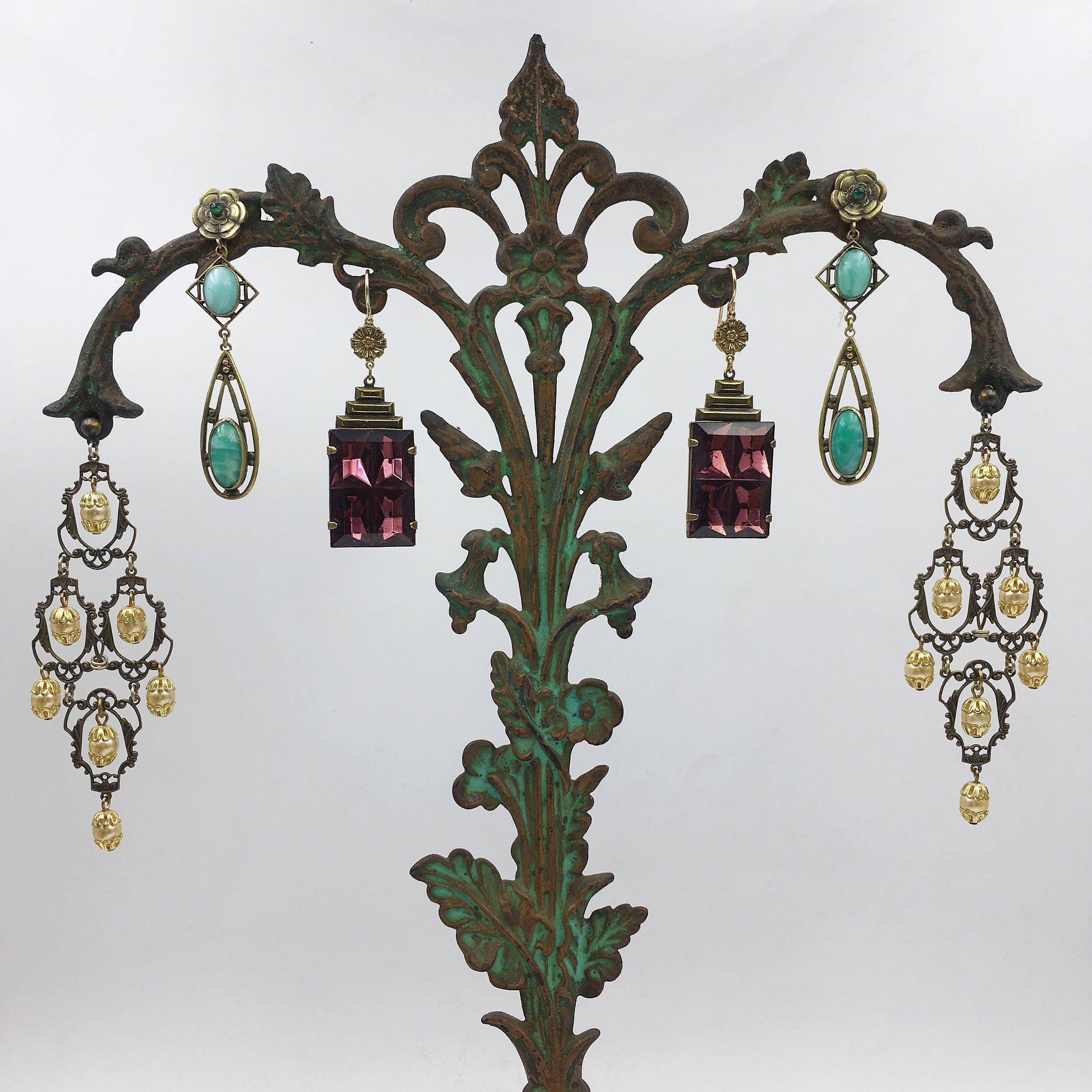 Vintage statement earrings Reverie vintage jewelry NYC