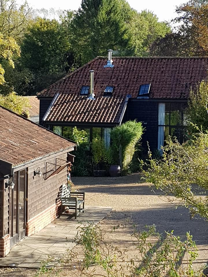 Barn accommodation taken from our studio - only a short walk across the courtyard