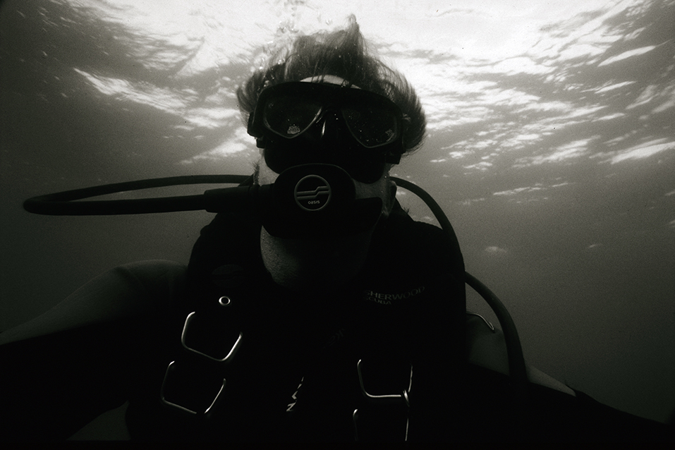 While working on threatened reefs in the Caribbean.