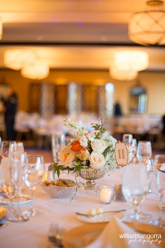 Centerpiece Design For: Wedding at The Marlowe Hotel | Photography: William Tangorra