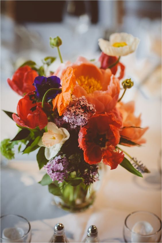 Centerpiece Designed For: Artists For Humanity Wedding | Photography: Abby Lorenz