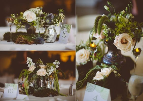 Centerpieces Designed For: Artists For Humanity Wedding | Photography: Abby Lorenz