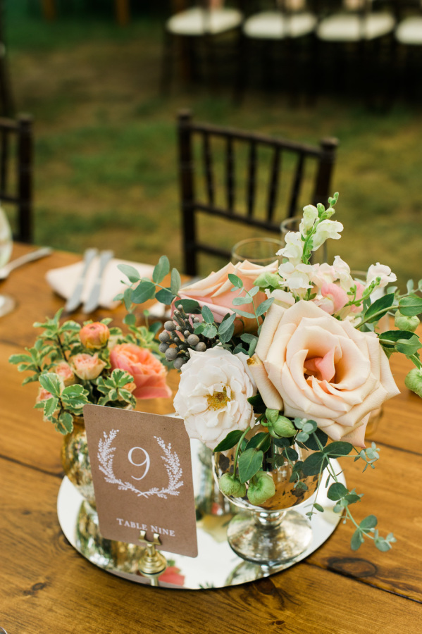 Centerpieces Designed For: Rustic Cape Cod Wedding | Photography: Fat Orange Cat Studio