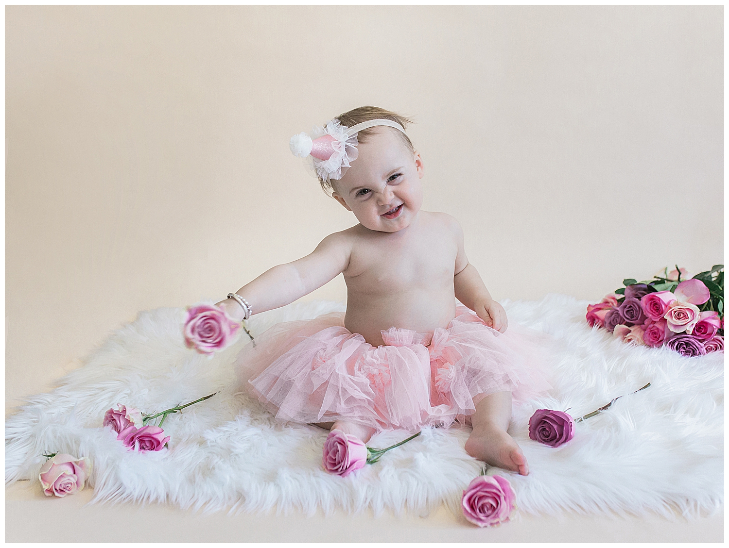 orange county baby first birthday during their studio photography session