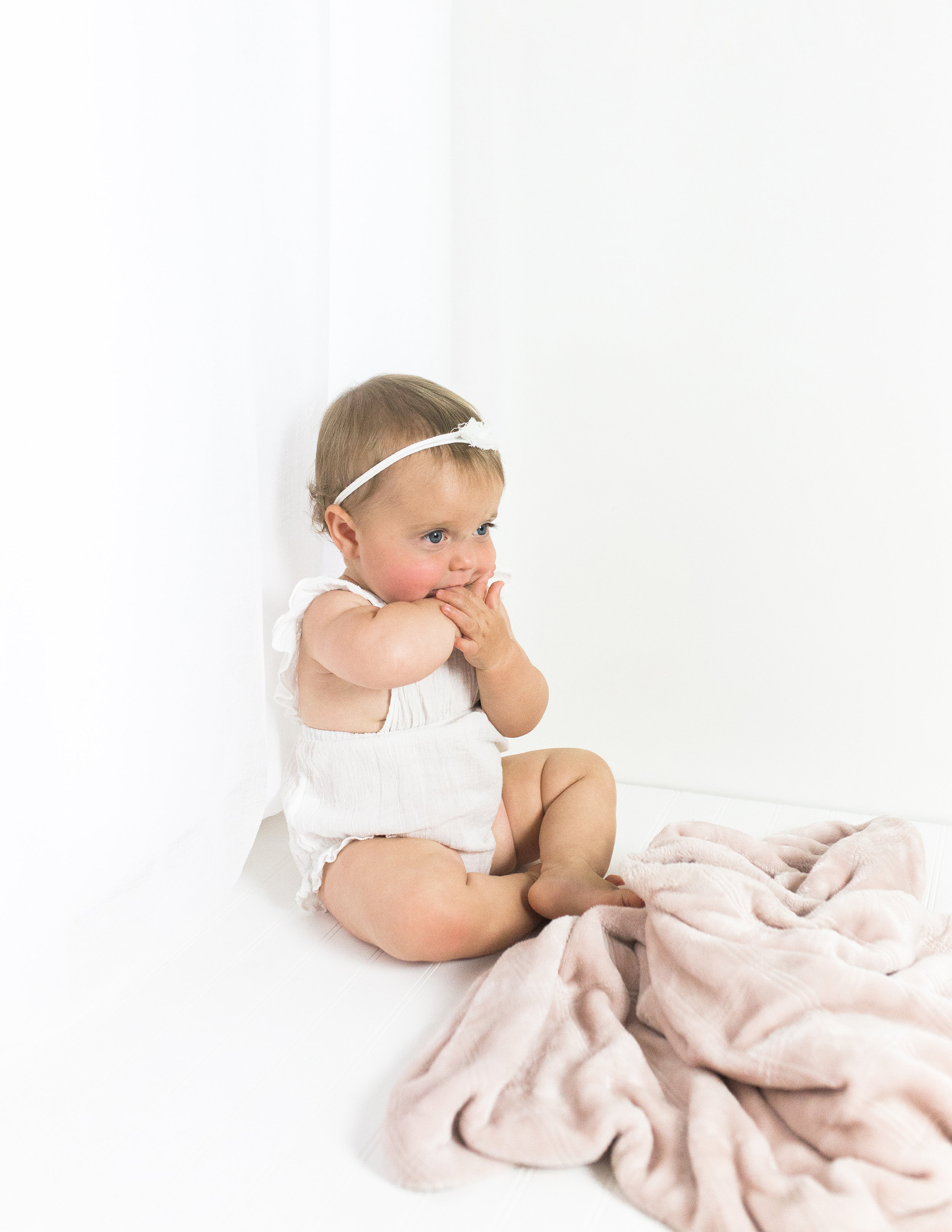 orange county baby during their studio photography session