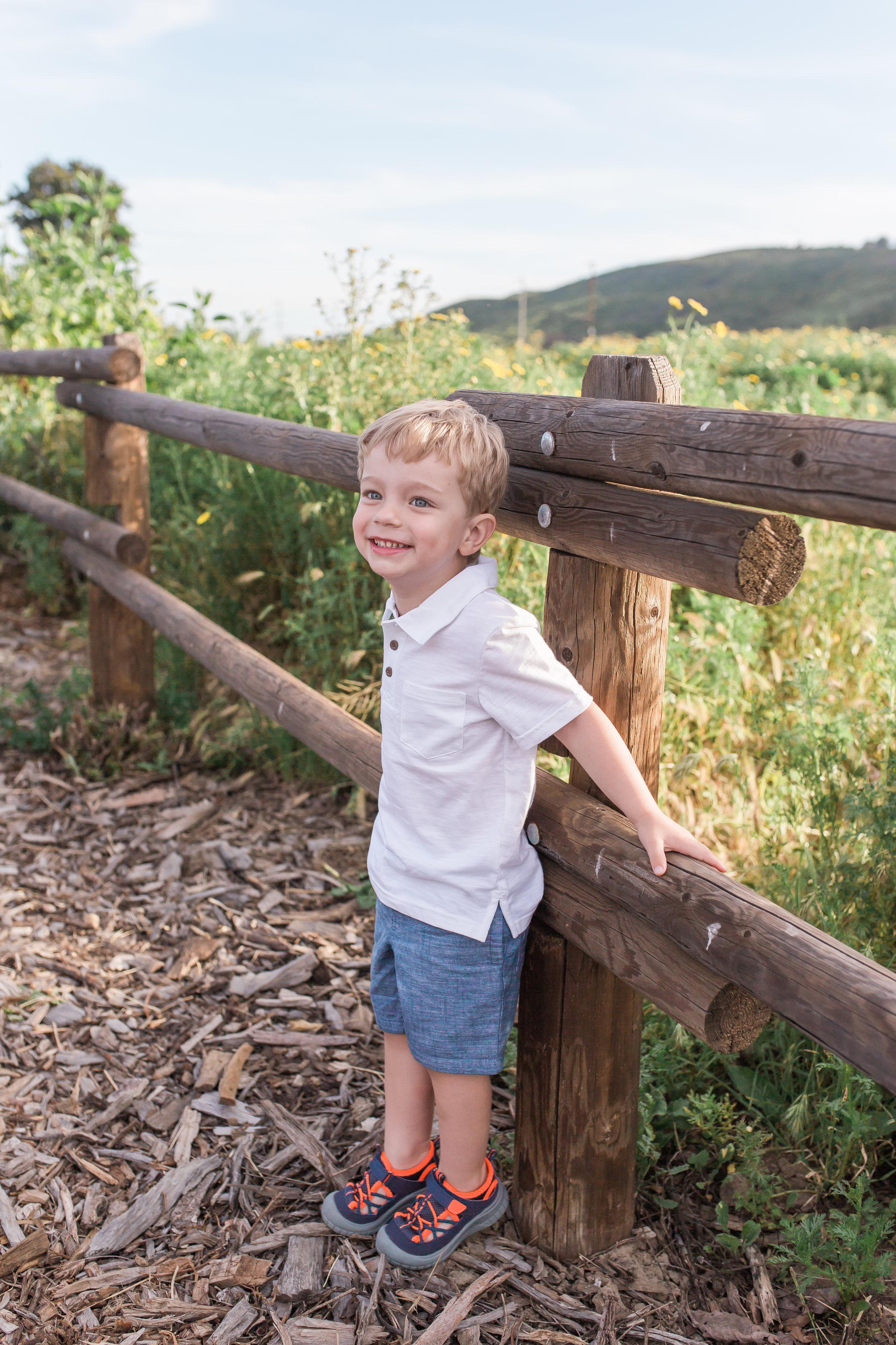 Dana PointFamily Photographer little boy in a field