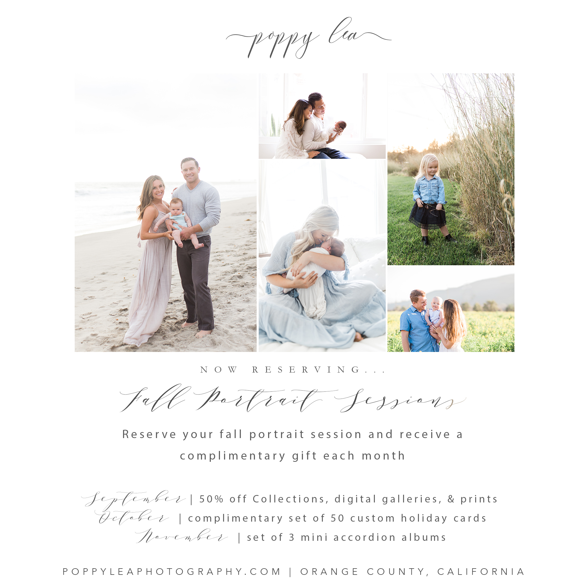 Orange County Family Photographer  || Now Booking Fall Sessions