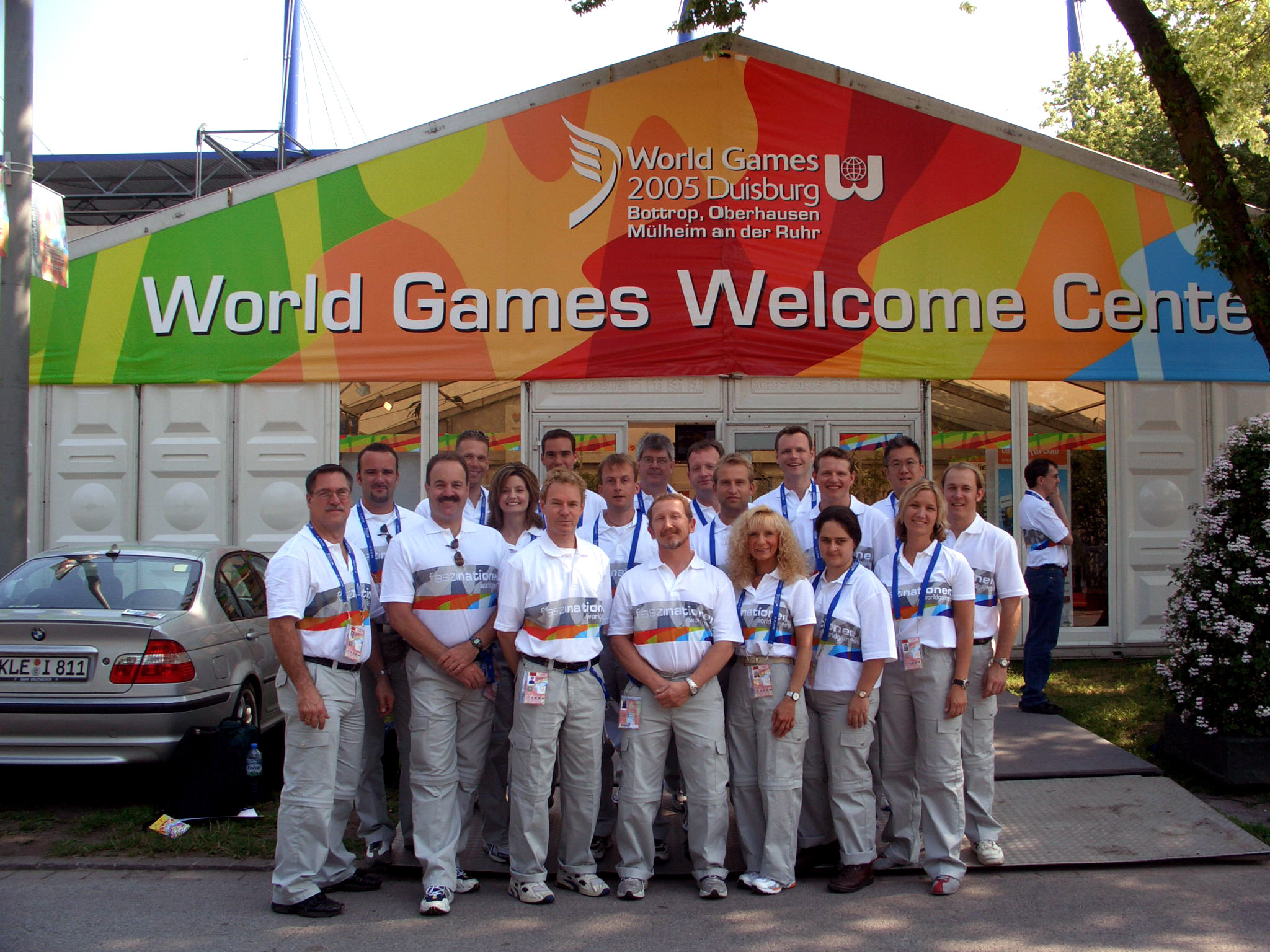 Dr. Ray and his all-star cast of his healthcare physicians at the 2005 World Games in Duisburg, Germany. Dr. Ray is tasked with selecting the best chiropractors from all over the world to form this renown team of doctors.