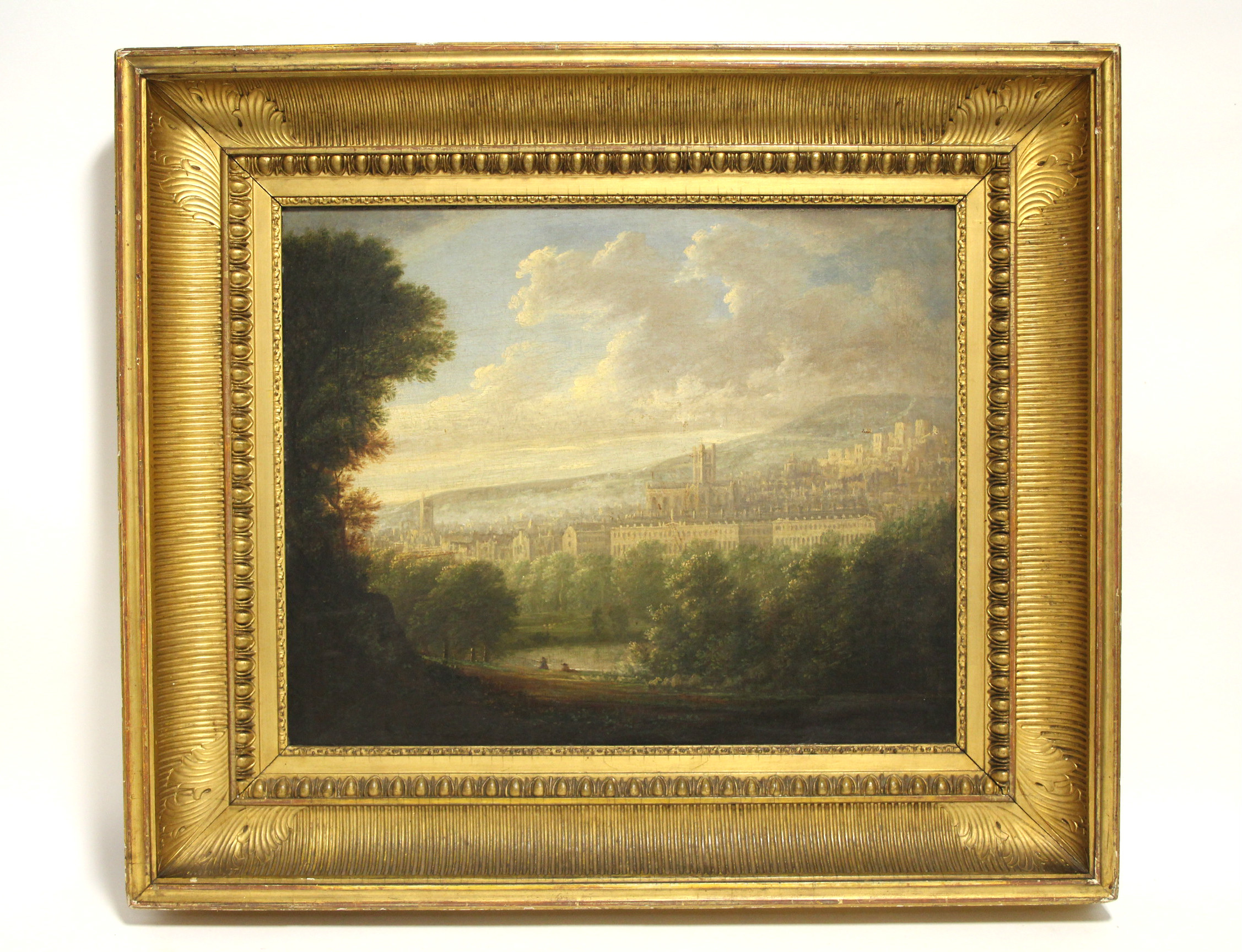 Sold For £1,000  A view of the City of Bath, English School, 19thC, Oil on Canvas