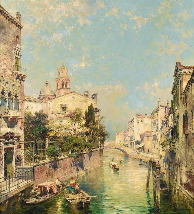 Sold For £43,000  Franz Richard Unterberger (Austrian, 1838-1902)