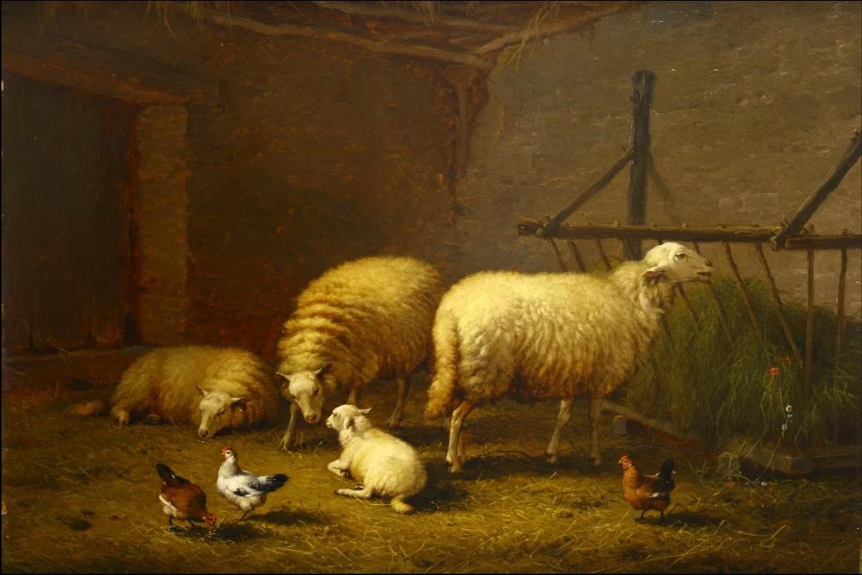 Sold For £17,000 Eugene Joseph Verberkhoven, oil on canvas