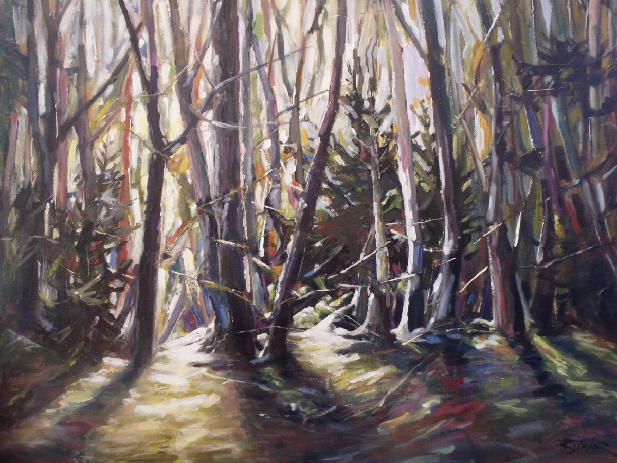 """""""Forest Colours"""" 30x40 acrylic on canvas SOLD"""