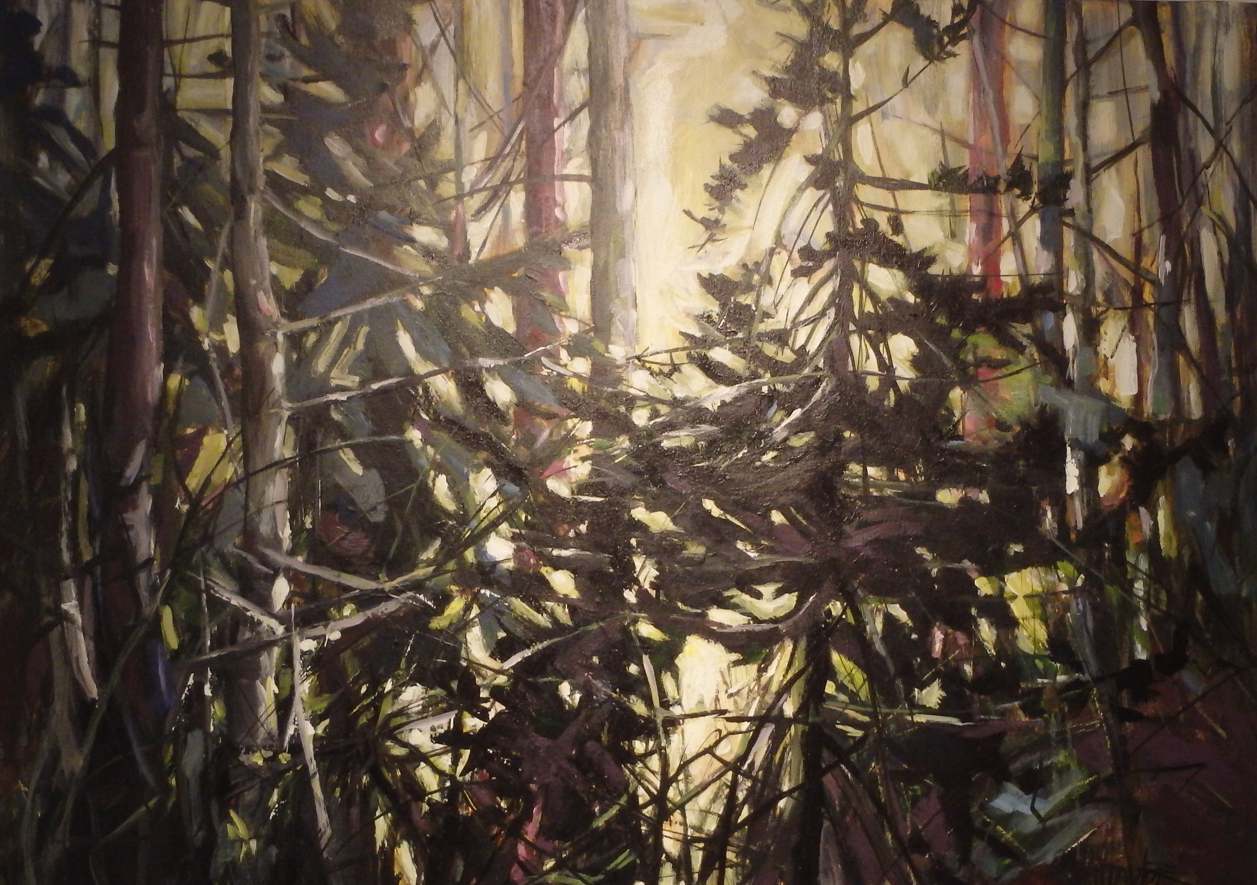 """""""After the Rain"""" 30x40 acrylic on canvas"""