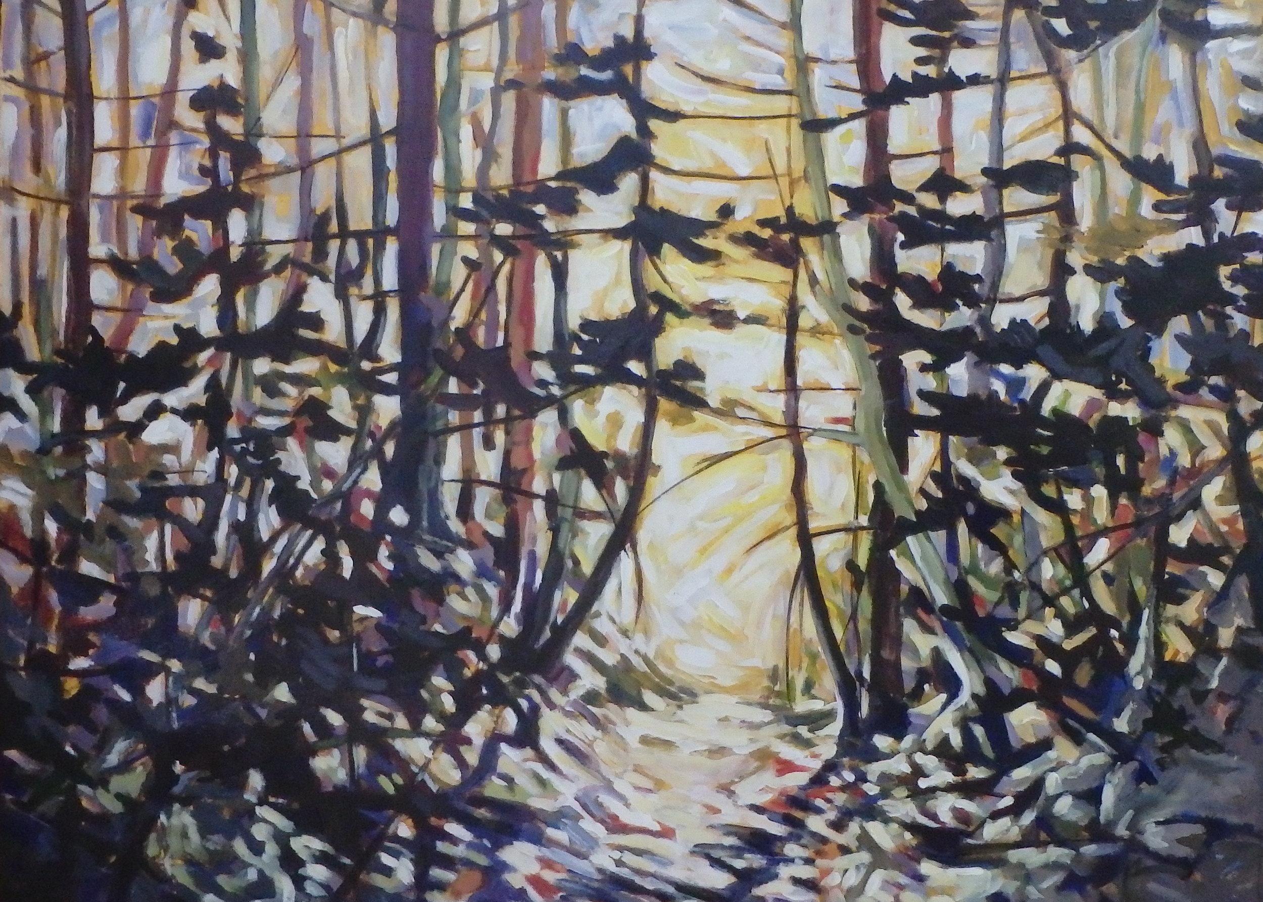 """Sunshiny Day"" 30x40 acrylic on canvas"
