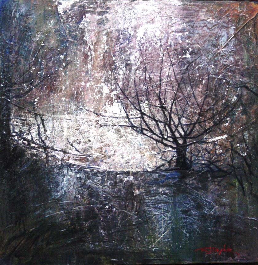 NOVEMBER TREE 24x24 acrylic