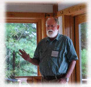 Ernest talk at Heart of the Mountains Retreat