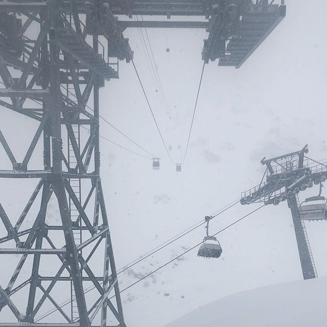 Low visibility in #verbier #switzerland #notvermont #infrastructure #notroma