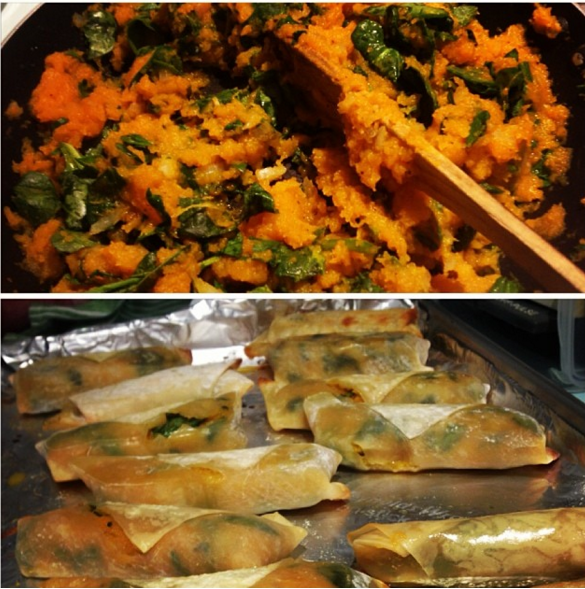 Back in the day, I used butternut squash to create butternut squash and spinach spring rolls!