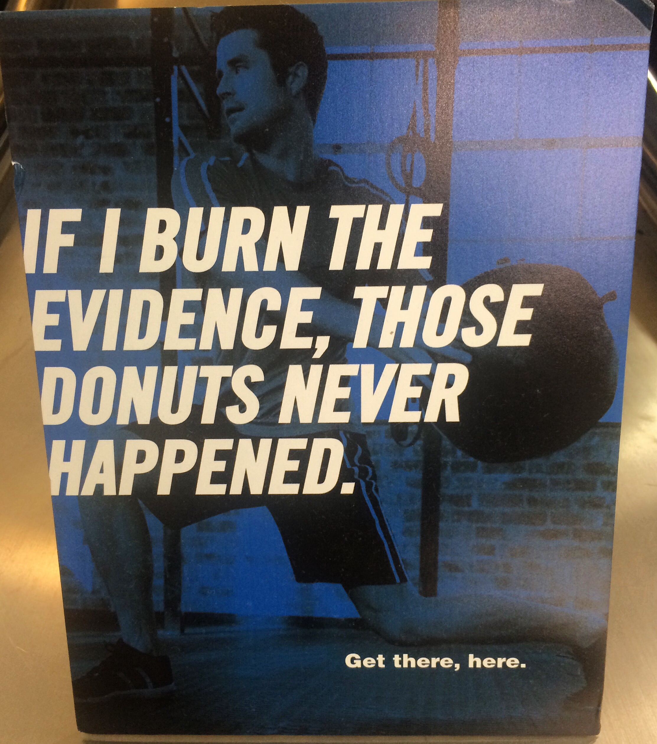 New York Sports Club Advertising Donut