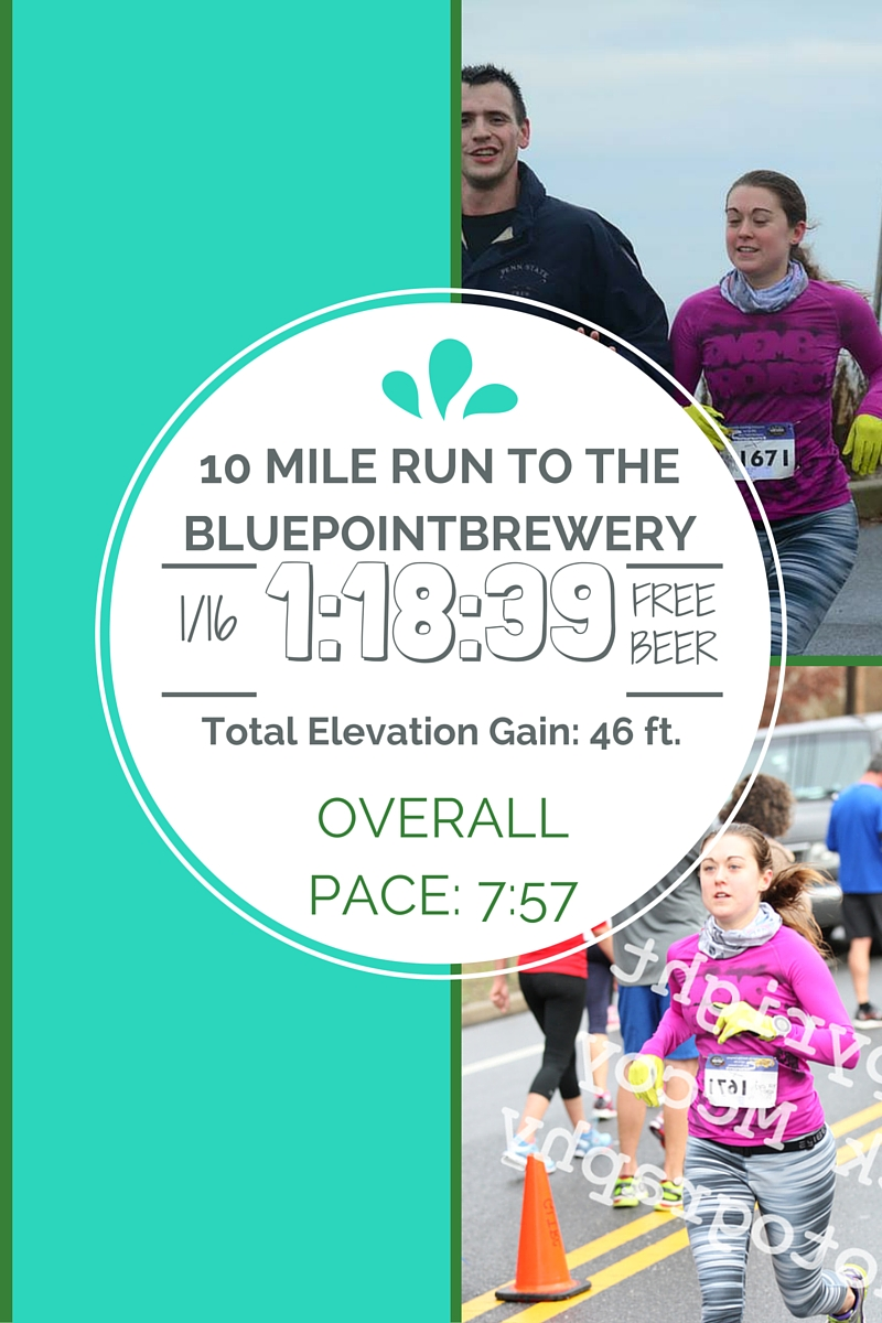 10 Mile Run to the Bluepoint Brewery