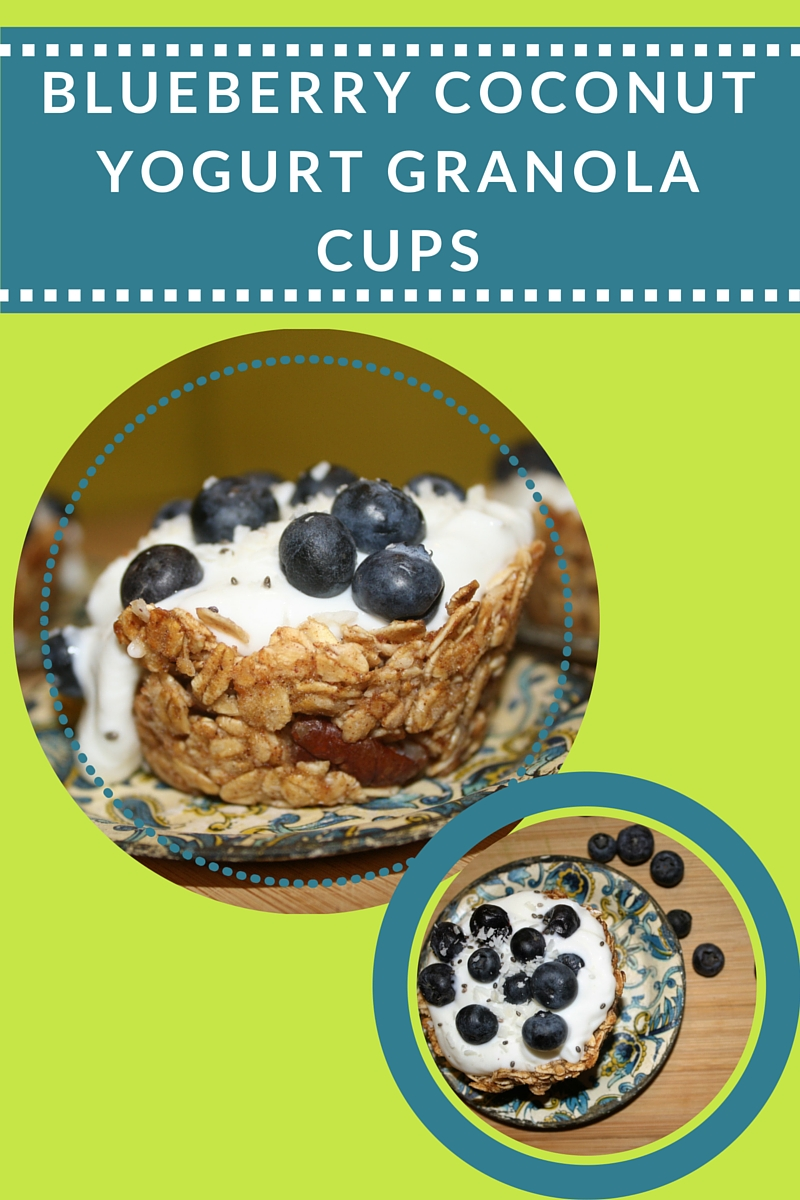 These were granola cups that I made from  Chocolate Covered Katie's recipe  - they were perfect for a potluck brunch!