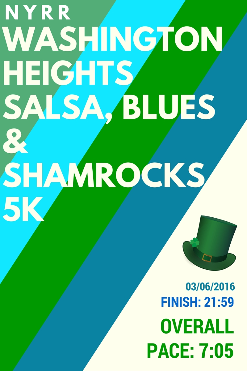 NYRR Washington Heights Salsa, Blues & Shamrocks 5K