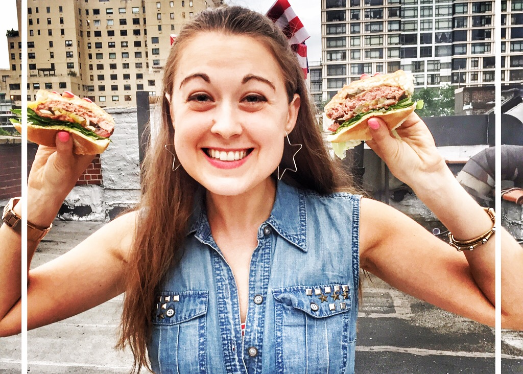 Girl with Burger