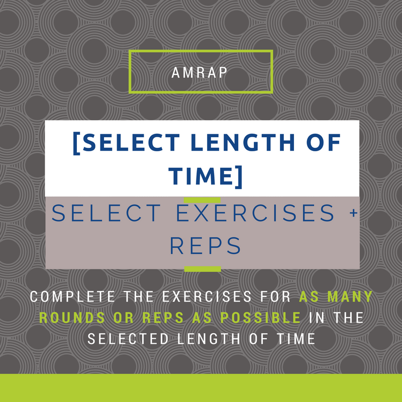 How To Create an AMRAP Workout