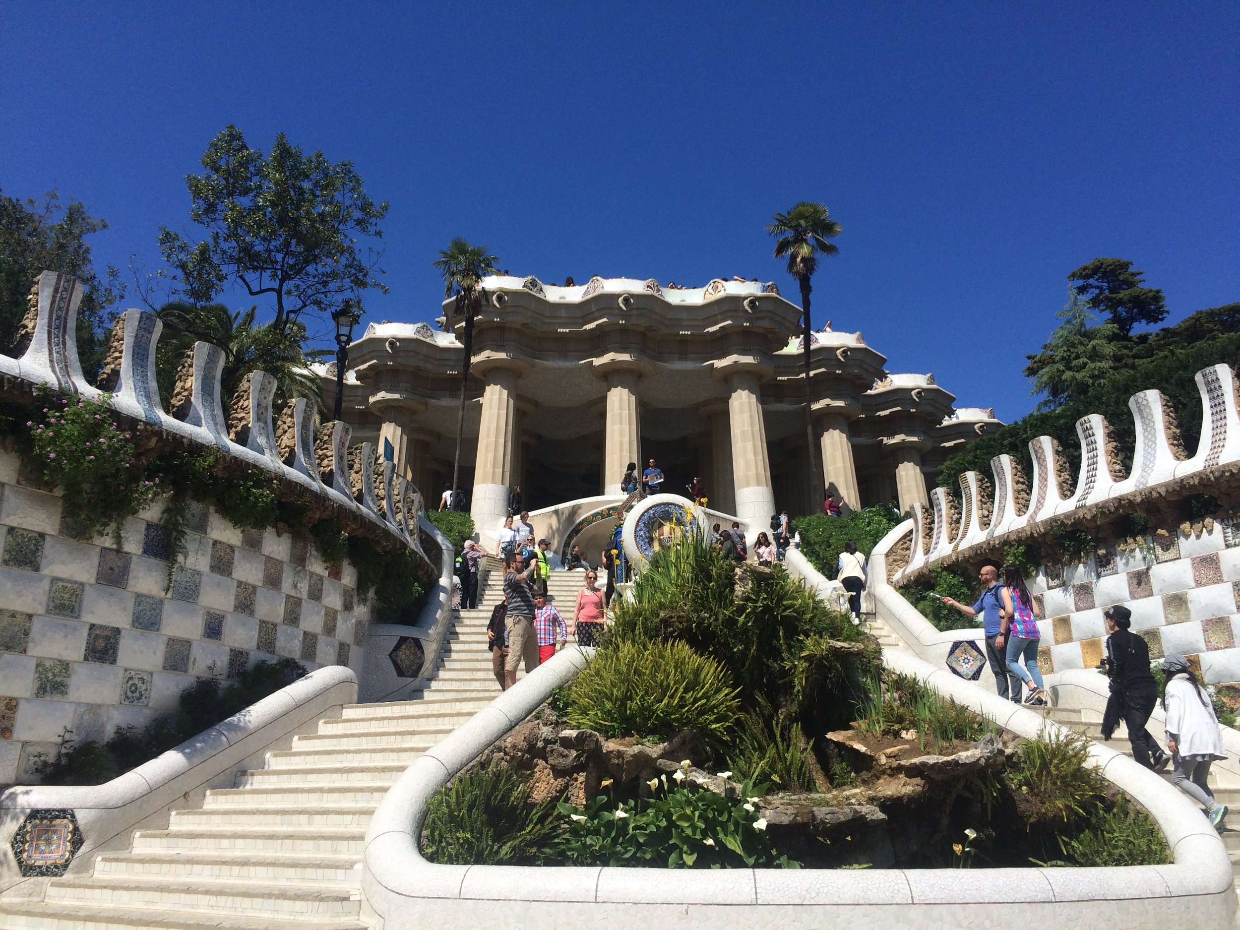 Barcelona Travel Guide Parc Guell Monumental Stairs