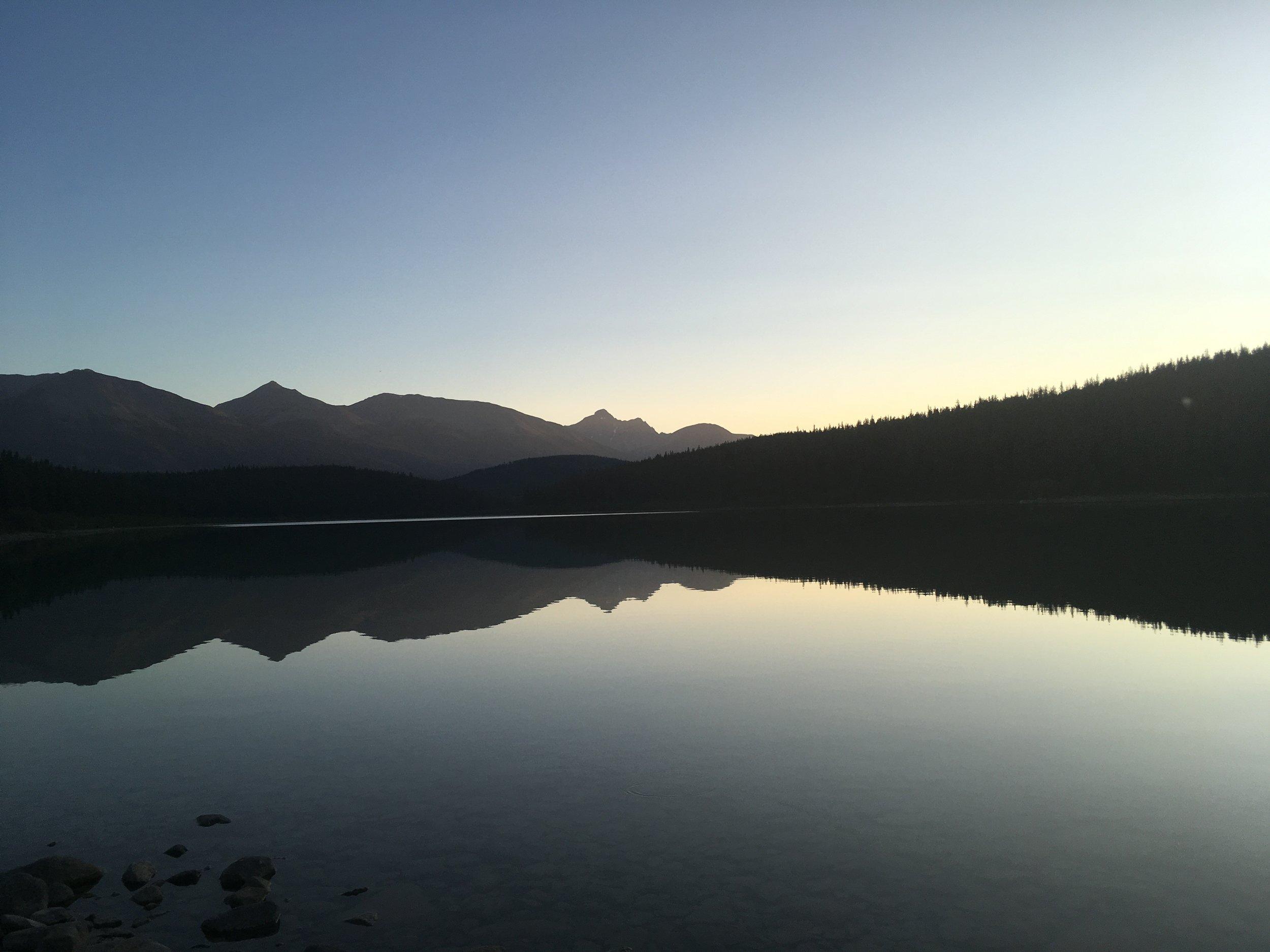 Patricia Lake Sunset