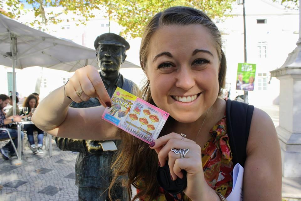 Lottery Seller Statue Lisbon